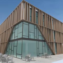 EDIFICIO DE OFICINAS: Edificios de oficinas de estilo  de INARQ Espacio, Moderno Madera Acabado en madera