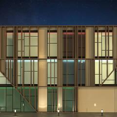 EDIFICIO DE OFICINAS Edificios de oficinas de estilo moderno de INARQ Espacio Moderno Madera Acabado en madera