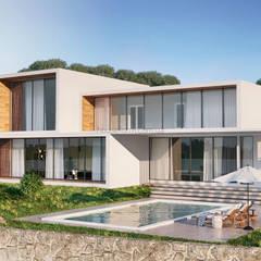 Hi Tech House:  Вілли вiд HouseForm Design Studio, Мінімалістичний Залізобетон