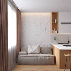 White AP-43:  Вітальня вiд HouseForm Design Studio, Мінімалістичний Дерево Дерев'яні