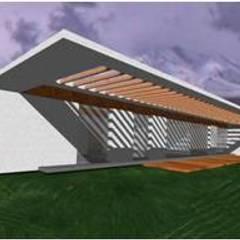 UP arquitectos의  소형 주택, 미니멀 콘크리트
