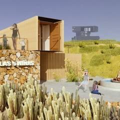 Industrial style balcony, veranda & terrace by Hamaca Arquitectura SpA Industrial