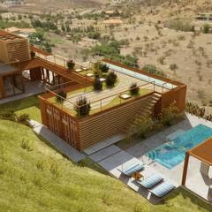Hồ bơi phong cách công nghiệp bởi Hamaca Arquitectura SpA Công nghiệp