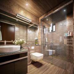Phòng tắm phong cách châu Á bởi Monnaie Interiors Pvt Ltd Châu Á
