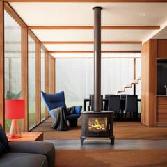 Kratki K8:  Dining room by Caldo Fires, Modern