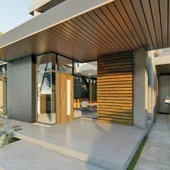 من Structura Architects حداثي خشب Wood effect
