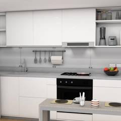 Small kitchens by Plano 13, Minimalist پلائیووڈ