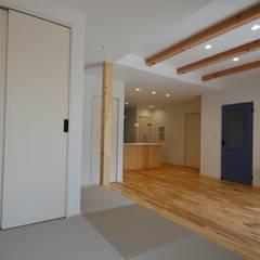 de Home Plan Kiyotake 一級建築士事務所 ㈱清武建設 Moderno Madera Acabado en madera