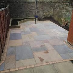 فناء أمامي تنفيذ Colinton Gardening Services - garden landscaping for Edinburgh, تبسيطي