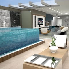 Infinity pool by MJR Arquitetura e Engenharia, Modern
