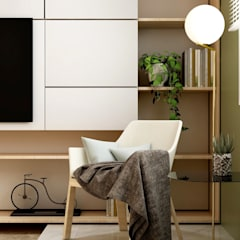 Small Space:  Living room by Coohom, Minimalist