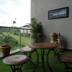 Varandas, marquises e terraços asiáticos por Ashwini Ghayal Designs Asiático