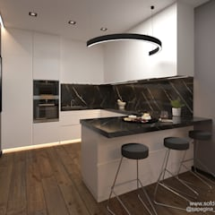 Small kitchens by Частный дизайнер Сапегина Ольга, Minimalist لکڑی Wood effect