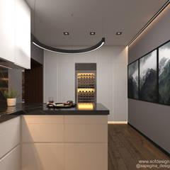 Small kitchens by Частный дизайнер Сапегина Ольга, Minimalist MDF