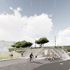 Proyecto varadero y nuevas oficinas en Ciutadella de Menorca Edificios de oficinas de estilo moderno de M3 Tolo Marti S.C.P. Moderno