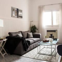 Renovación de Living Salones eclécticos de CLAUDIA BREPPE Ecléctico