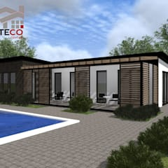 Casa sostenible, ecologica , moderna economica IVA Steco Centar Edificios de oficinas de estilo moderno de Steco Centar Moderno Madera Acabado en madera
