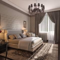 """Проект студии """"Ар-деко по-американски"""" Спальня в эклектичном стиле от Технологии дизайна Эклектичный"""
