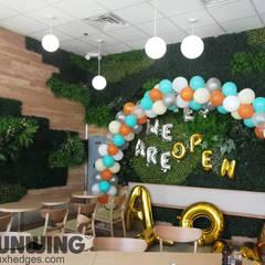 Fire-retardant Artificial green walls by Sunwing Industries Ltd Modern Plastic