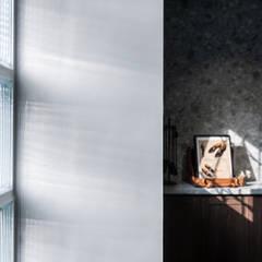 아시아스타일 벽지 & 바닥 by 漢玥室內設計 한옥 유리