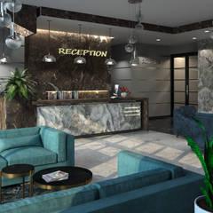 Hoteles de estilo minimalista de SL. STUDIO. DESIGN Minimalista Piedra