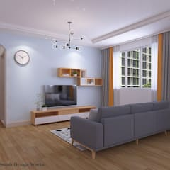 Hougang St 91 Minimalist living room by Swish Design Works Minimalist Plywood