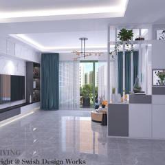 Hindhede Walk Modern living room by Swish Design Works Modern Plywood