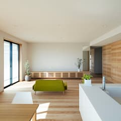 T terrace モダンデザインの リビング の HAMADA DESIGN モダン