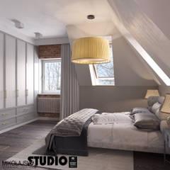 NOSTALGIA W ZAKOPANEM Nowoczesna sypialnia od MIKOŁAJSKAstudio Nowoczesny