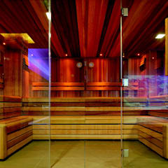 Frameless Glass in Wet Rooms 미니멀리스트 스파 by Ion Glass 미니멀 유리