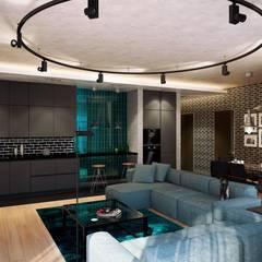 Квартиры студии Гостиная в стиле лофт от Технологии дизайна Лофт