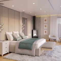 Eclectic style bedroom by Dessiner Interior Architectural Eclectic