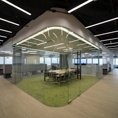 Interweaving Workspace Modern office buildings by Lot Architects Ltd Modern