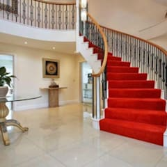 Helical Staircase in the Classical Style by Boss Stairs Limited Classic لکڑی Wood effect