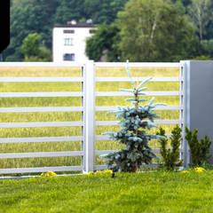 Hello Sunshine. Lekkie ogrodzenie aluminiowe od Xcel Nowoczesny