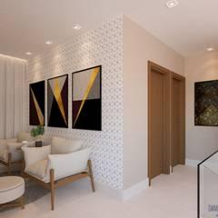 Reforma da residência R.V. Corredores, halls e escadas modernos por Daniela Ponsoni Arquitetura Moderno