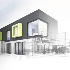 Jardins de Inverno industriais por PRAMO PREFABRİCATED & STEEL Industrial Alumínio/Zinco