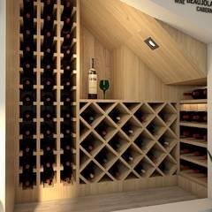 Adegas rústicas por GA Experimental Rústico Madeira Acabamento em madeira