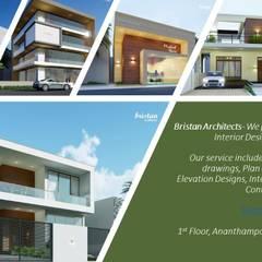by BRISTAN ARCHITECTS & INTERIOR DESIGNERS Minimalist اینٹوں