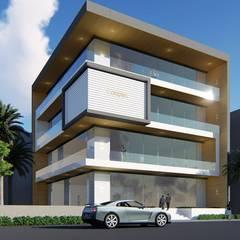 by BRISTAN ARCHITECTS & INTERIOR DESIGNERS Minimalist Aluminium/Zinc