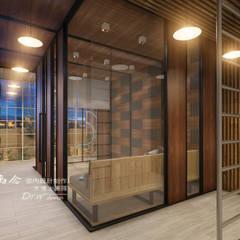 Balcones y terrazas rústicos de 木博士團隊/動念室內設計制作 Rústico