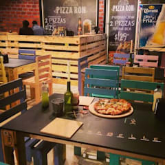 Industrial style gastronomy by D'Pallet Industrial Wood Wood effect