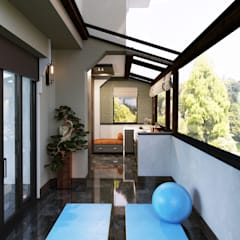 Modern conservatory by Entrada Mimarlık Modern Marble