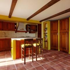 por RC. Interior Designer Rústico Madeira Acabamento em madeira