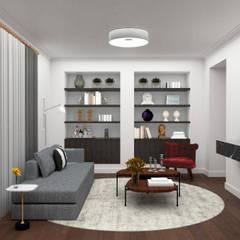 Apartamento em Curitiba Salas de estar ecléticas por Miguel Zaionc Eclético