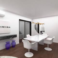 Apartamento em Curitiba Salas de jantar ecléticas por Miguel Zaionc Eclético