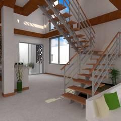 Diseño y Construcción de Casa Vacacional de Pilar Parada Herrera Moderno Madera Acabado en madera