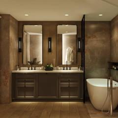 러스틱스타일 욕실 by WALL INTERIOR DESIGN 러스틱 (Rustic)