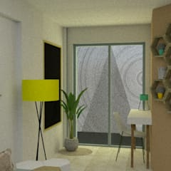 Renovación Dpto. Nueva Córdoba Estudios y oficinas estilo escandinavo de Esc. 1:1 Escandinavo Compuestos de madera y plástico