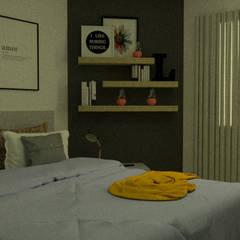 Renovación Dpto. Nueva Córdoba Dormitorios escandinavos de Esc. 1:1 Escandinavo Compuestos de madera y plástico